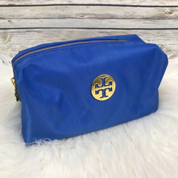 Tory Burch Handbags - Tory Burch Blue Makeup Cosmetics Bag